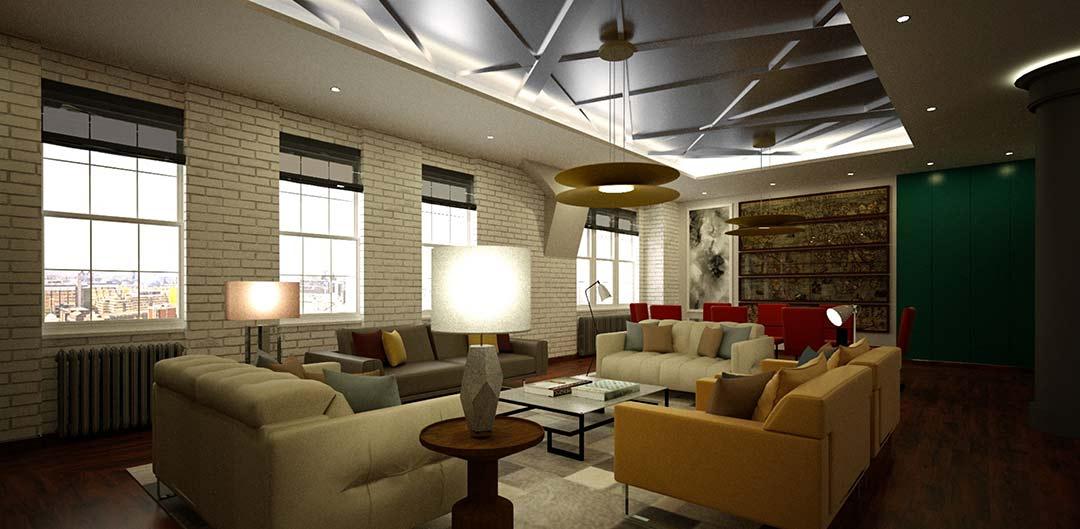 Full design visual of ceiling