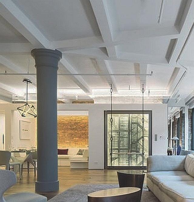 Fibrous plaster ceiling